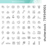 outline web icon set wedding | Shutterstock .eps vector #759549001