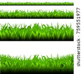 green grass line isolated set.... | Shutterstock .eps vector #759551977
