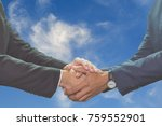 business man handshake on night ... | Shutterstock . vector #759552901
