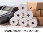 electronic cash register and... | Shutterstock . vector #759554239