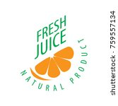 logo of fresh juice | Shutterstock .eps vector #759557134