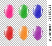 set of transparent colorful... | Shutterstock .eps vector #759557185