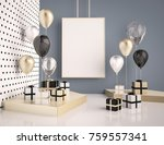 interior mock up scene with... | Shutterstock . vector #759557341