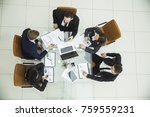 ceo and the business team at a ... | Shutterstock . vector #759559231