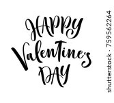 happy valentine's day. hand... | Shutterstock .eps vector #759562264