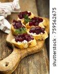 vegetarian appetizers with... | Shutterstock . vector #759562675