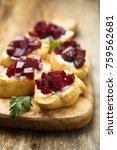 vegetarian appetizers with... | Shutterstock . vector #759562681