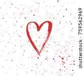 heart sign  ink painted. vector ... | Shutterstock .eps vector #759562969