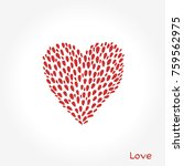 simple valentine day cards.... | Shutterstock .eps vector #759562975