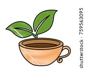 cup with tea leafs | Shutterstock .eps vector #759563095