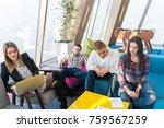 multiethnic startup business... | Shutterstock . vector #759567259