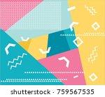 background pattern memphis...   Shutterstock .eps vector #759567535