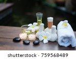 thai spa massage compress balls ... | Shutterstock . vector #759568489