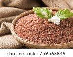 jasmine brown rice beery  in... | Shutterstock . vector #759568849