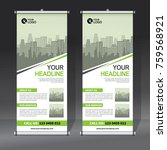 roll up banner design template  ... | Shutterstock .eps vector #759568921