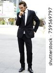 the young business man with... | Shutterstock . vector #759569797