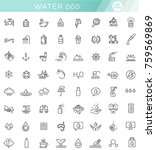 water icon set in thin line... | Shutterstock .eps vector #759569869