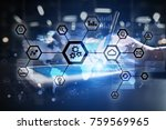 iot  automation  industry 4.0.... | Shutterstock . vector #759569965