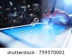 integration concept. industrial ... | Shutterstock . vector #759570001