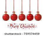 red christmas balls for your...   Shutterstock .eps vector #759574459