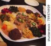Small photo of Gourmet Ethiopian vegetable sampler platter