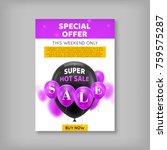poster balls  special offer....   Shutterstock .eps vector #759575287