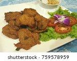 thai food fish cake  tod mun... | Shutterstock . vector #759578959