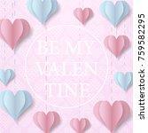 happy valentine's day design... | Shutterstock .eps vector #759582295
