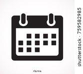 calendar flat mobile icon  | Shutterstock .eps vector #759582985