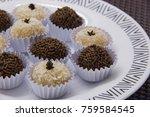 traditional brazilian sweet ... | Shutterstock . vector #759584545
