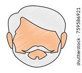 cute grandfather head avatar... | Shutterstock .eps vector #759586921