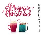 design seasonal banner merry... | Shutterstock .eps vector #759587899
