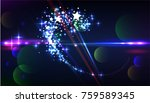 shiny light and glitter... | Shutterstock .eps vector #759589345