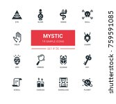 culture theme  mystic   line...