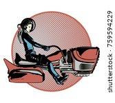 a vector illustration of rocket ... | Shutterstock .eps vector #759594229
