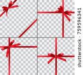 set of four vector gift... | Shutterstock .eps vector #759596341