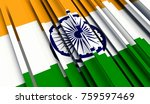 fragment flag of india. 3d... | Shutterstock . vector #759597469