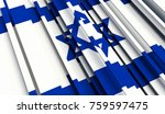 fragment flag of israel. 3d... | Shutterstock . vector #759597475