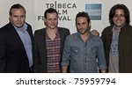 Small photo of NEW YORK - APRIL 25: Chris Papavasiliou, Benji Kohn; Austin Stark and Bingo Gubelmann attend premiere of the movie 'Detachment' during the 2011 Tribeca Film Festival on April 25, 2011 in New York CIty