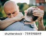 knife threat. kapap instructor... | Shutterstock . vector #759598849