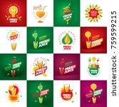 logo of fresh juice | Shutterstock .eps vector #759599215