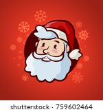happy santa claus. christmas or ... | Shutterstock .eps vector #759602464