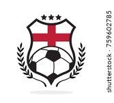 england national flag football... | Shutterstock .eps vector #759602785