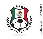 mexico national flag football... | Shutterstock .eps vector #759602824