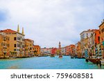 beautiful view of venice italy. ... | Shutterstock . vector #759608581