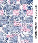 modern pattern patchwork  | Shutterstock . vector #759612631
