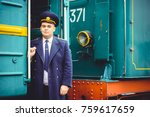 european or american train... | Shutterstock . vector #759617659
