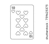 ten of hearts french playing... | Shutterstock .eps vector #759625375