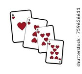 hearts suit french playing... | Shutterstock .eps vector #759626611