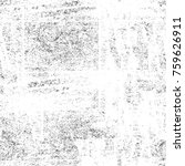 grunge black and white pattern. ... | Shutterstock . vector #759626911
